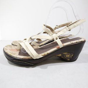 Jambu St. Martin Tan Leather Sport Wedge Sandals